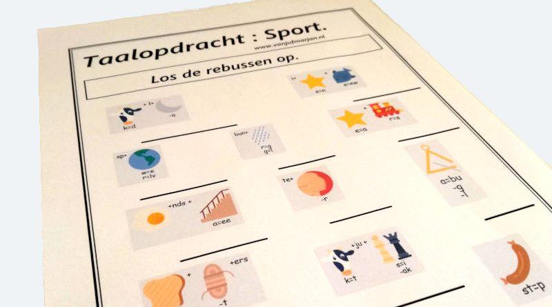 taalopdracht: sport