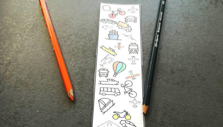 Boekenlegger in het thema van de kinderboekenweek.