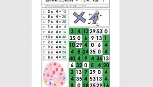 Sommenzoekers met tafels 3-4-6