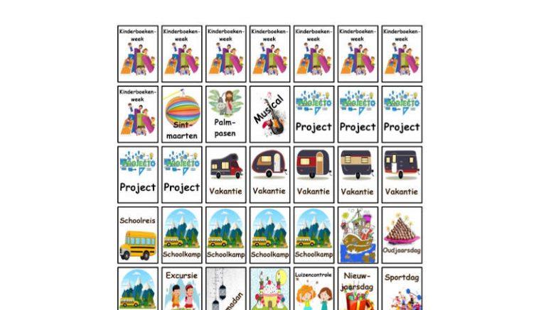 Kalender voor in de klas – uitbreiding 1
