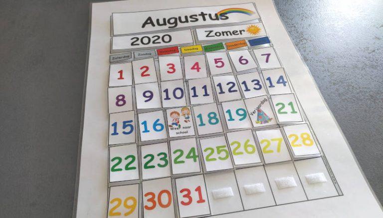 Kalender voor in de klas.