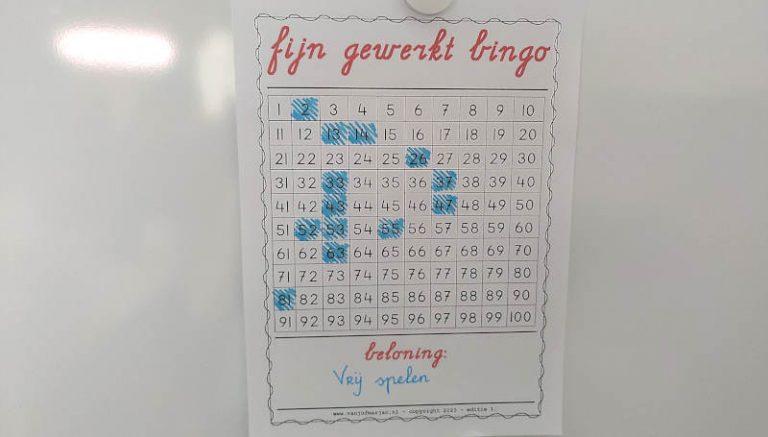 Fijn gewerkt Bingo