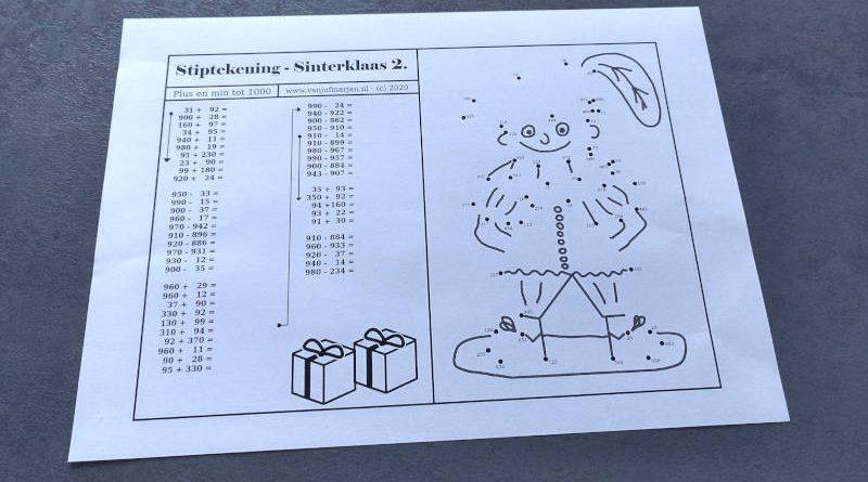 Stiptekening Sinterklaas 2