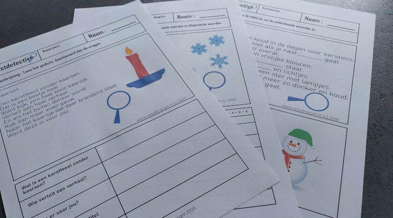 Tekstdetective - Kerst/winter