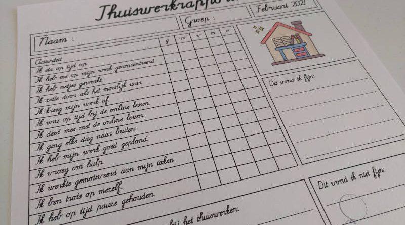 Thuiswerkrapport